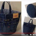 はかなくなったジーンズや綿パンからトートバッグが作れます♪簡単にできるものを選びました