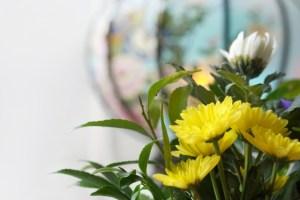 お盆の生花