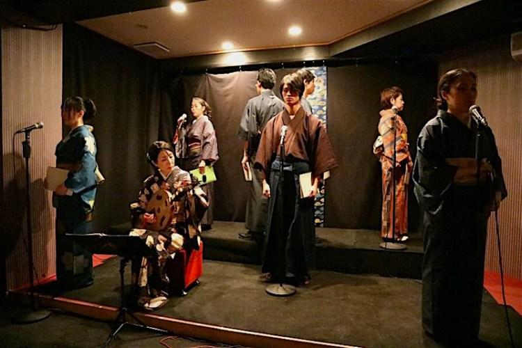 朗読と月琴で綴る「龍馬の手紙」公演風景写真