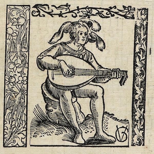 『Musica getutscht und außgezogen』リュート弾き