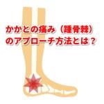かかとの痛み(踵骨棘)の治療方法とアプローチ方法は?「倉田正純先生の見解」