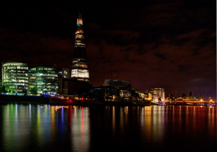 The Thames River Side at night