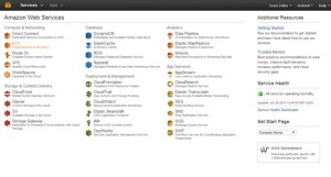 The service overview of Amazon AWS