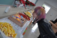 Urara blows out the candles