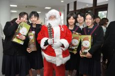 Santa with our visitors