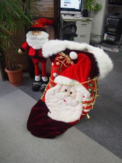Santa getting the gifts ready