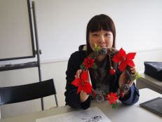 Akane with her wreath
