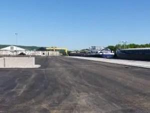 Plateforme conteneurs de 10000 m2 du port de Nancy-Frouard © NancyPort