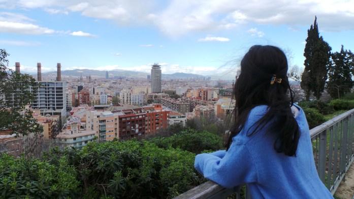 Vue panoramique Montjuic Bracelone - Seiraz
