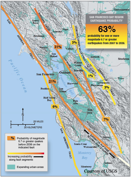 Image result for hayward fault map
