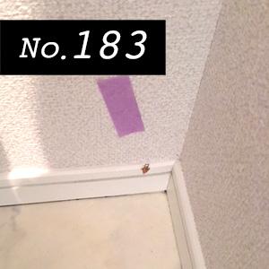 リペア実例183 巾木と床の傷