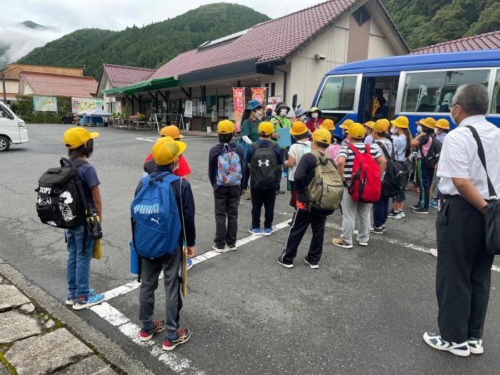 城川小4年生のジオ学習(2021年7月1日)