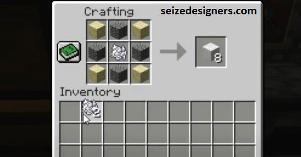 Concrete powder Minecraft recipe