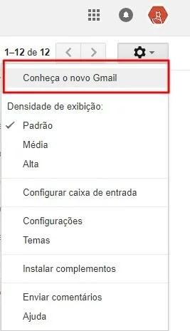 Conheça o novo Gmail 7