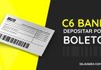 Como realizar depósito por boleto no C6 Bank