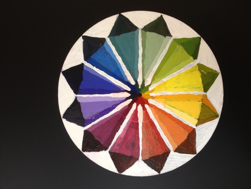 Color Wheel Record Mandalas With Tints And Shades
