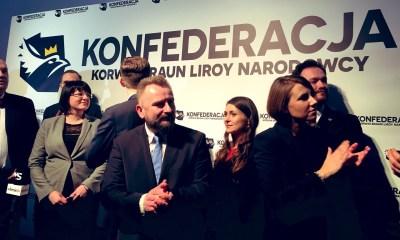 Konfederacja Korwin-Braun-Liroy-Narodowcy/Fot. Tomasz Kalinowski/Twitter