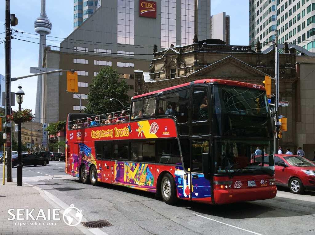 トロント観光、二階建てバス