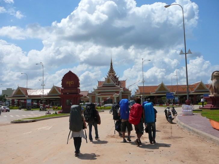 カンボジア側の国境