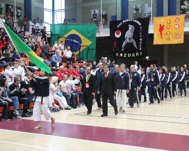 Entrada da seleção Brasileira JKA 2017