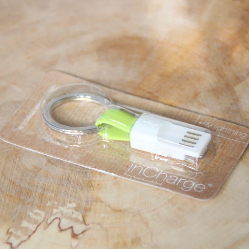 InCharge Oplader Lightning Kabel Lime