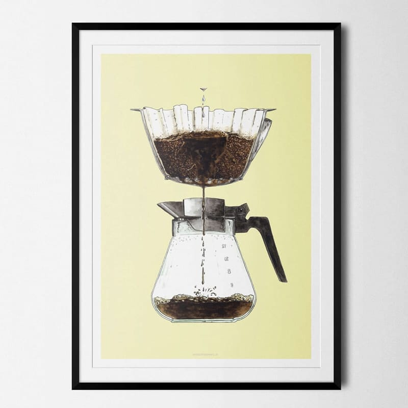 Plakat Kaffe Coffeeprints Filterkaffe