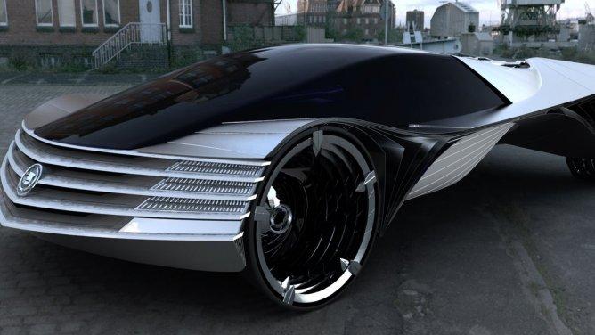 Koncept Cadillacu navržený Lorenem Kulesusem.