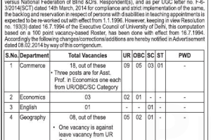 Shaheed Bhagat Singh College Recruitment 2015 Assistant Professor Online apply form