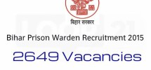 Bihar Jail Prison Warden Jobs 2015 Apply Online Form Download