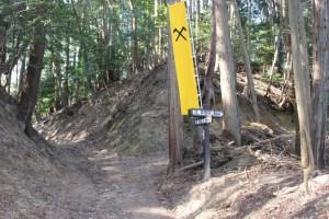 松尾山への登山道