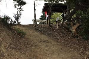 南宮山陣城(毛利秀元陣跡)の虎口