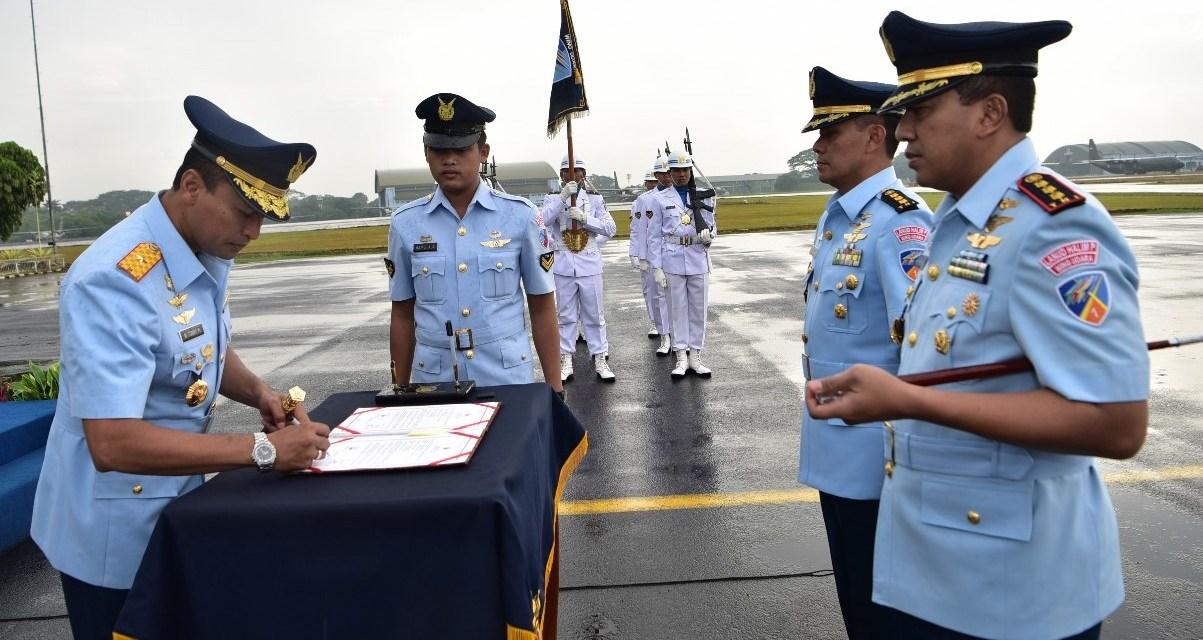 Komandan Wing Udara 1 Lanud Halim Perdanakusuma Diserah Terimakan