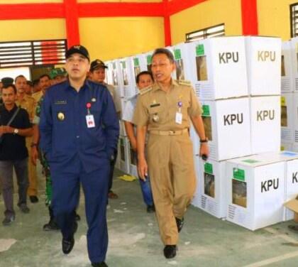 Bupati Tangerang Tinjau Tempat Penyimpanan Logistik di Dua Kecamatan