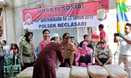 Polsek Neglasari Beri Bantuan Semen ke Masjid Jami' Nurul  Hidayah