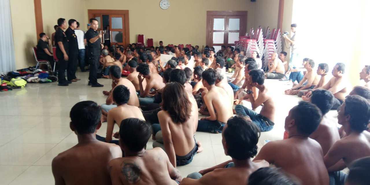 Operasi Cipkon, 162 Preman Jalanan Diamankan Polrestro Tangerang Kota