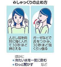 指を耳穴に、舌を引っ張る!?…しゃっくりの意外な止め方