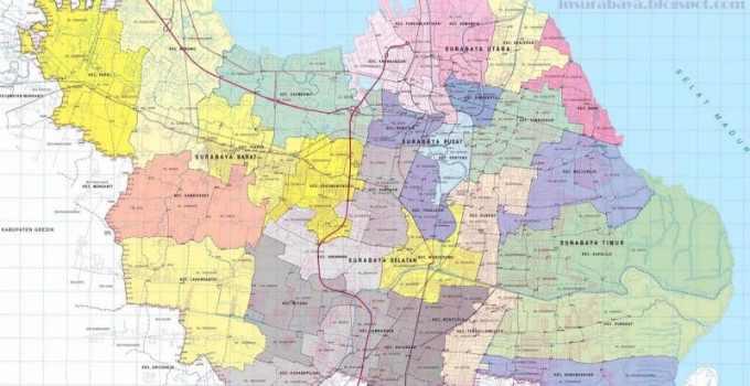 Peta Surabaya (lengkap dengan Penjelasan dan Gambar) 1
