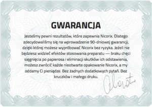 nicorix-gwarancja