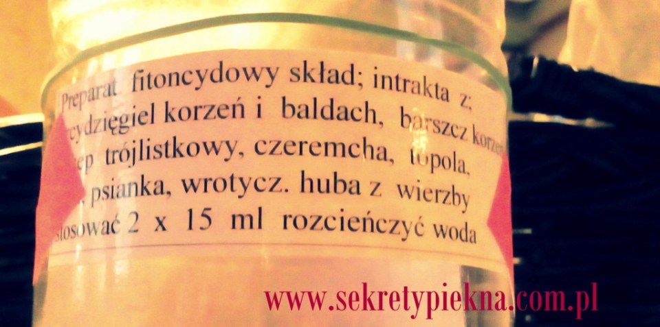 Kuracja ziołowa płyn fitoncyndowy mieszanka ziół