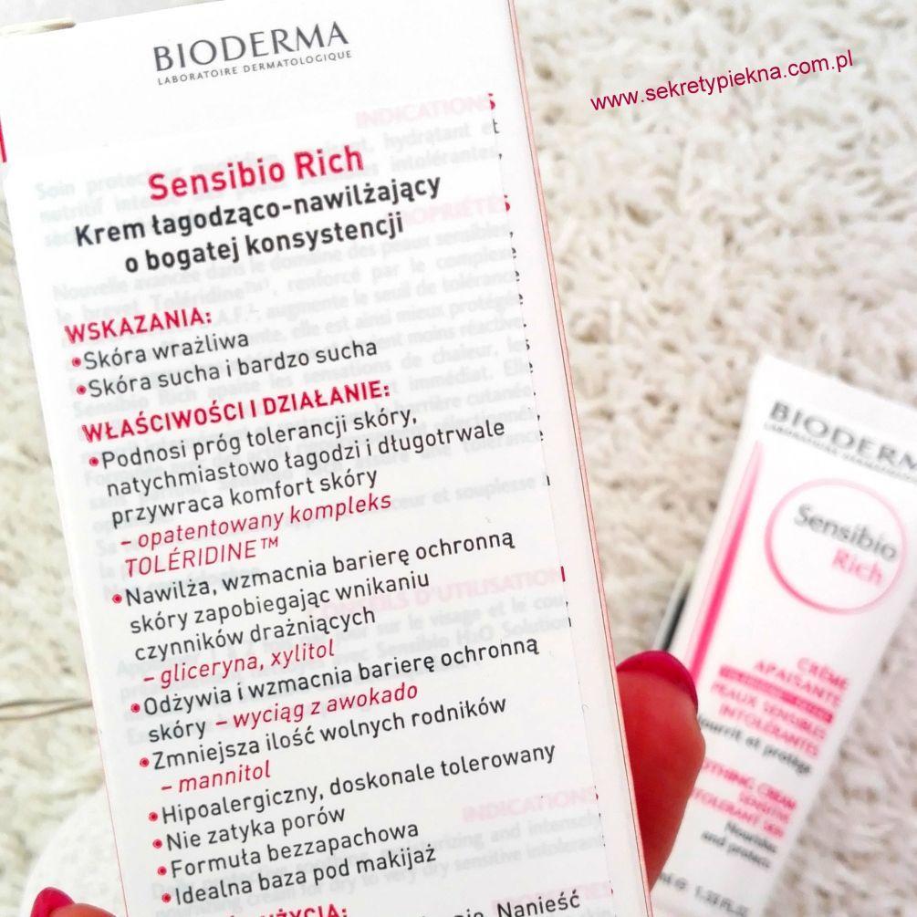 Bioderma Sensibio Rich krem łagodzący