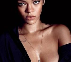 Rihanna, onderdanig in bed, tevens topless in de GQ