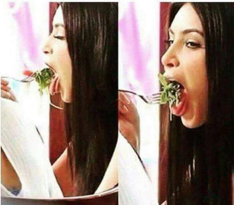 kim-kardashian-eet-een-salade