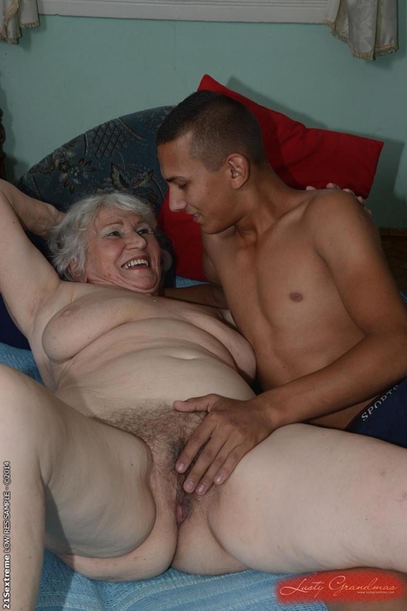 60 yr old grandma takes big black cock in interracial video - 5 3