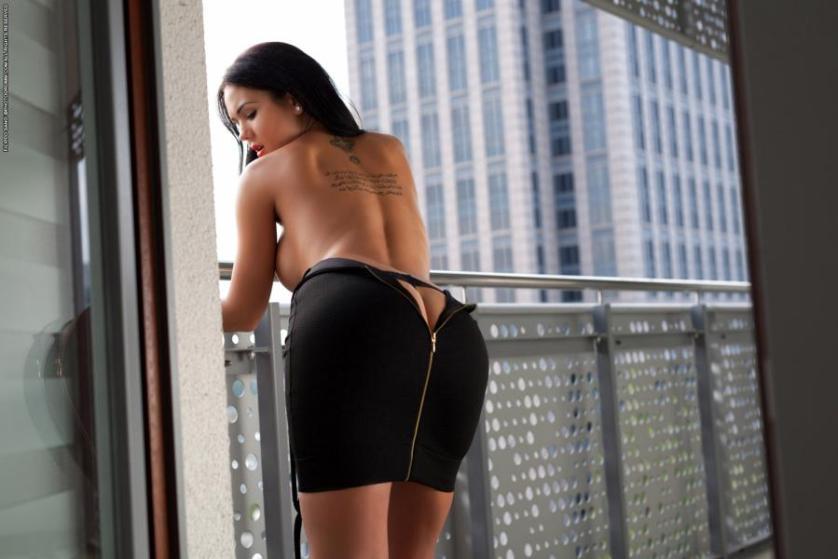 Paar seks op balkon