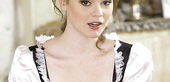 Tessa Lane, geile schoonmaakster en tietneuken