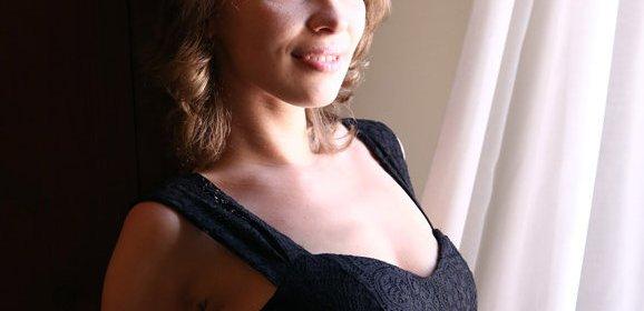 Erotische naaktfoto's van een mooie blonde vrouw
