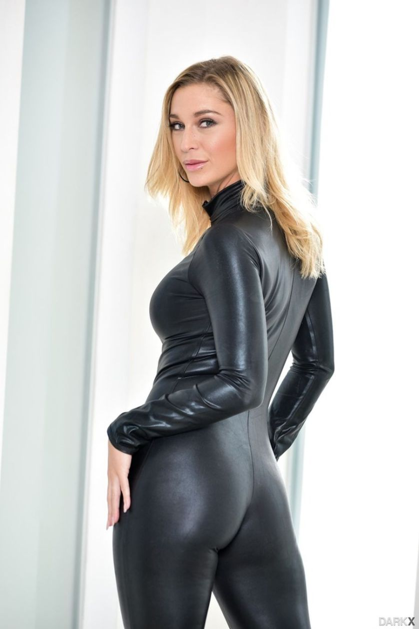 Strakke latex bodysuit