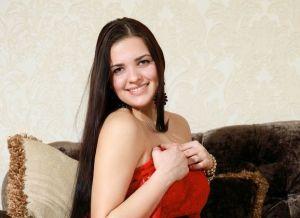 Sophia en een rood jurkje dat uitgaat