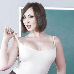 Hij neukt zijn geile oude lerares in haar lekkere kontje