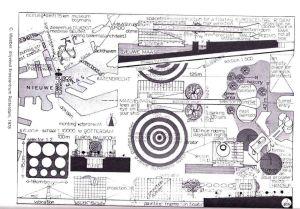 Parodie op Eroscentrum van architect C. Weeber. (1978)